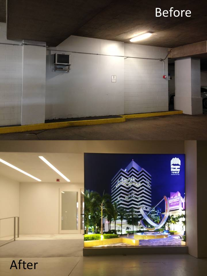 Morgan Stanley Tower Parking Garage Entry