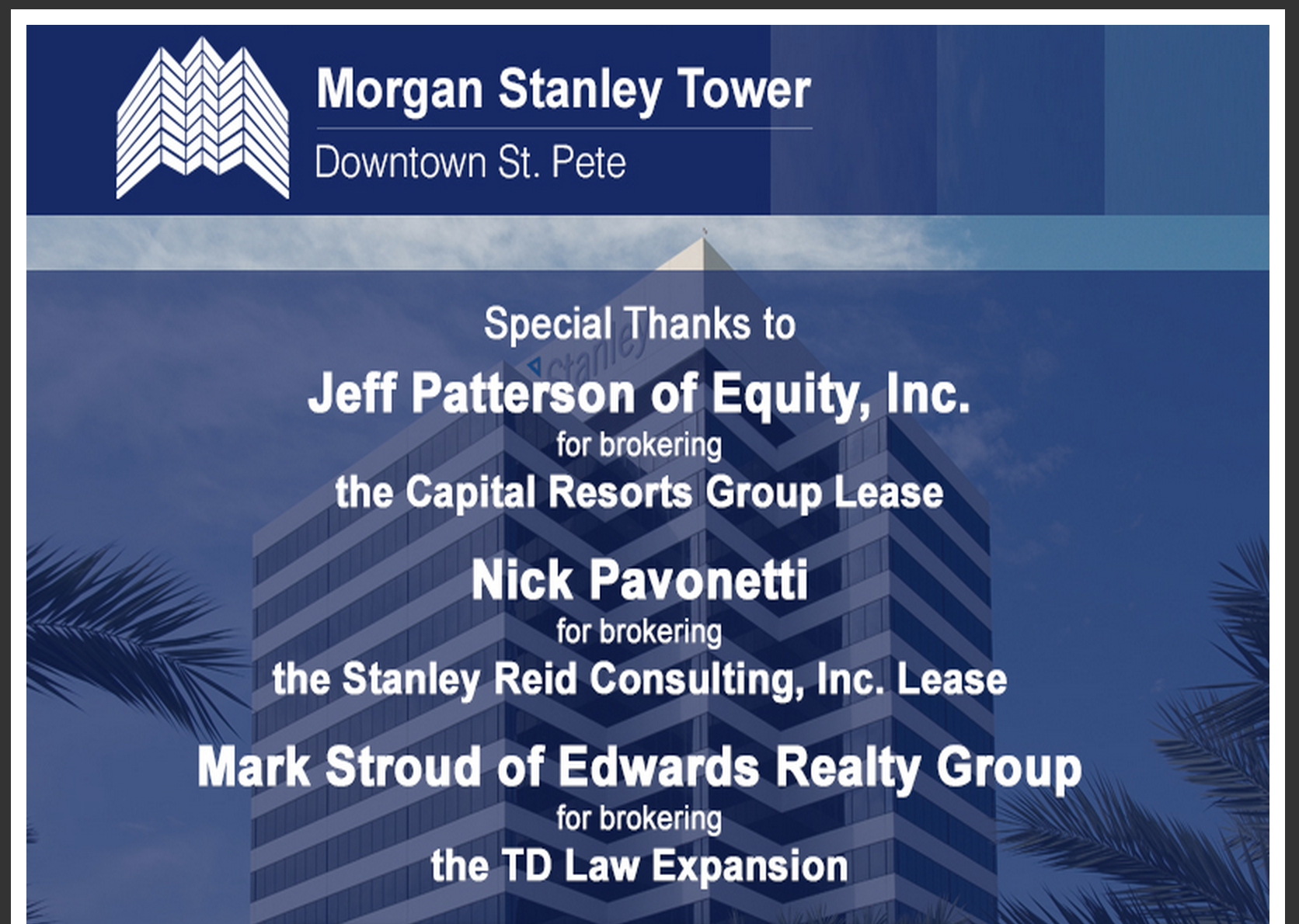 Capital Resorts Group Morgan Stanley Tower